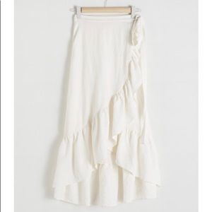 &other stories ruffled linen skirt